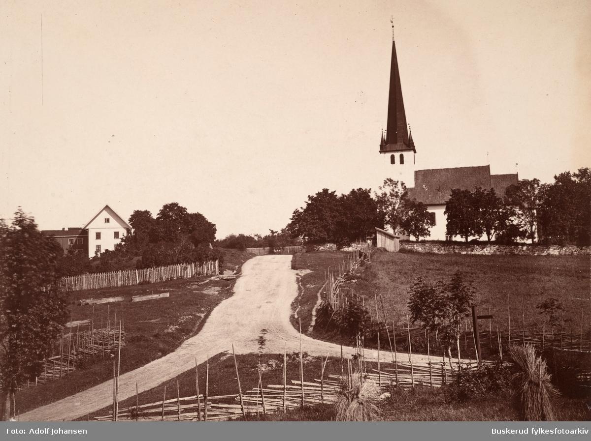 Norderhov med prestegrden  Foto digitaltmuseum Adolf Johansenjpg